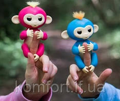 Finger Monkey Інтерактивна іграшка ручна мавпочка на палець Happy Monkey (біла)