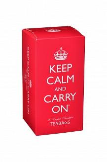 Keep Calm and Carry On Tea Carton English Breakfast, 125g