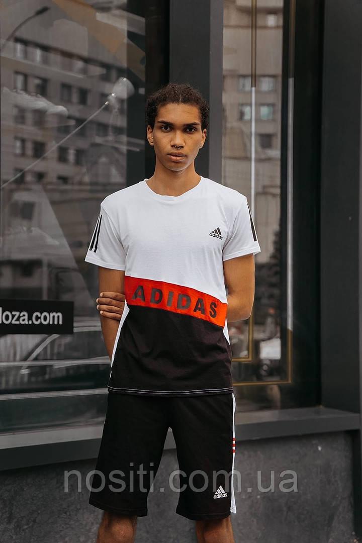 Батальный летний мужской спортивный костюм шорты + футболка