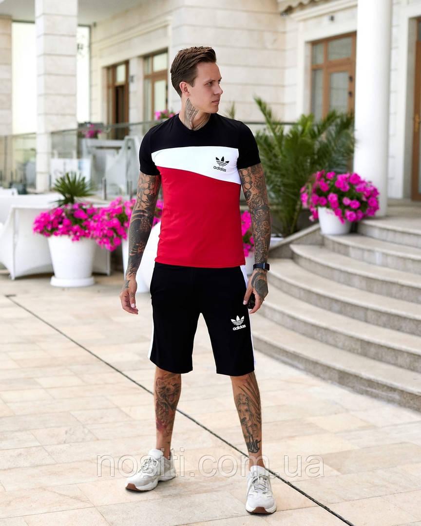 Летний мужской спортивный костюм шорты + футболка