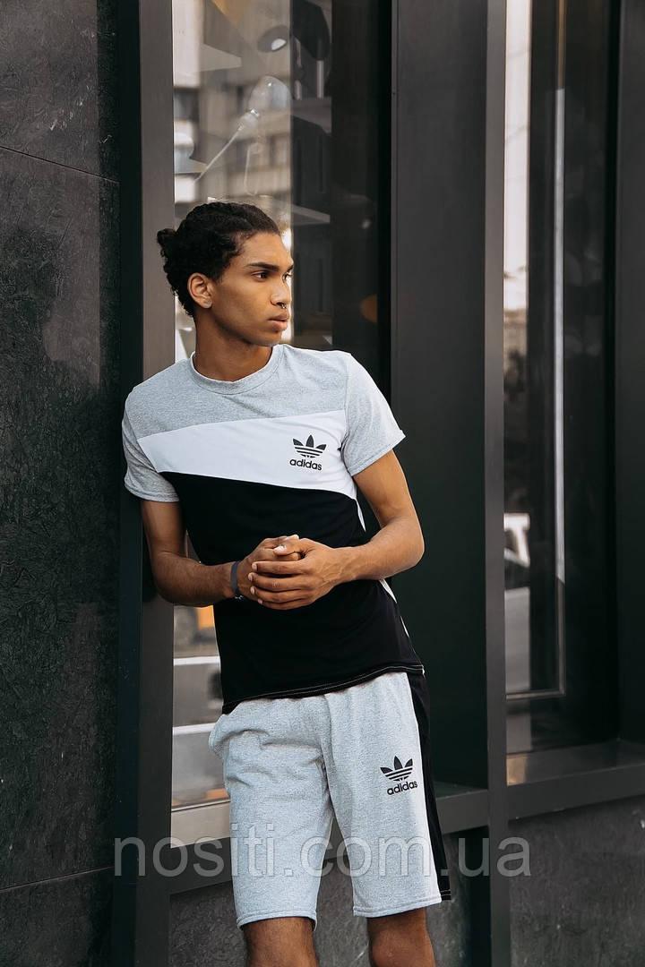 Батальний літній чоловічий спортивний костюм шорти + футболка