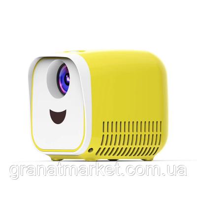 Детский мини проектор Yoga L1 Бело-Желтый