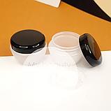 Баночка 10 мл пластикова Тіффані, матова з чорною кришкою, фото 2