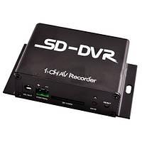 Регистратор mini drv 1-канальный:  видеосигнал PAL, поддержка SD карты