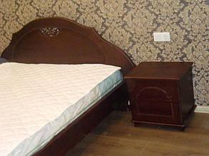 Кровать деревянная с тумбами 1