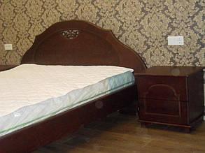 Кровать деревянная с тумбами 3