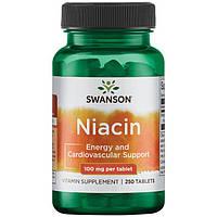 Ниацин, Swanson, Niacin, 100 мг, 250 табл
