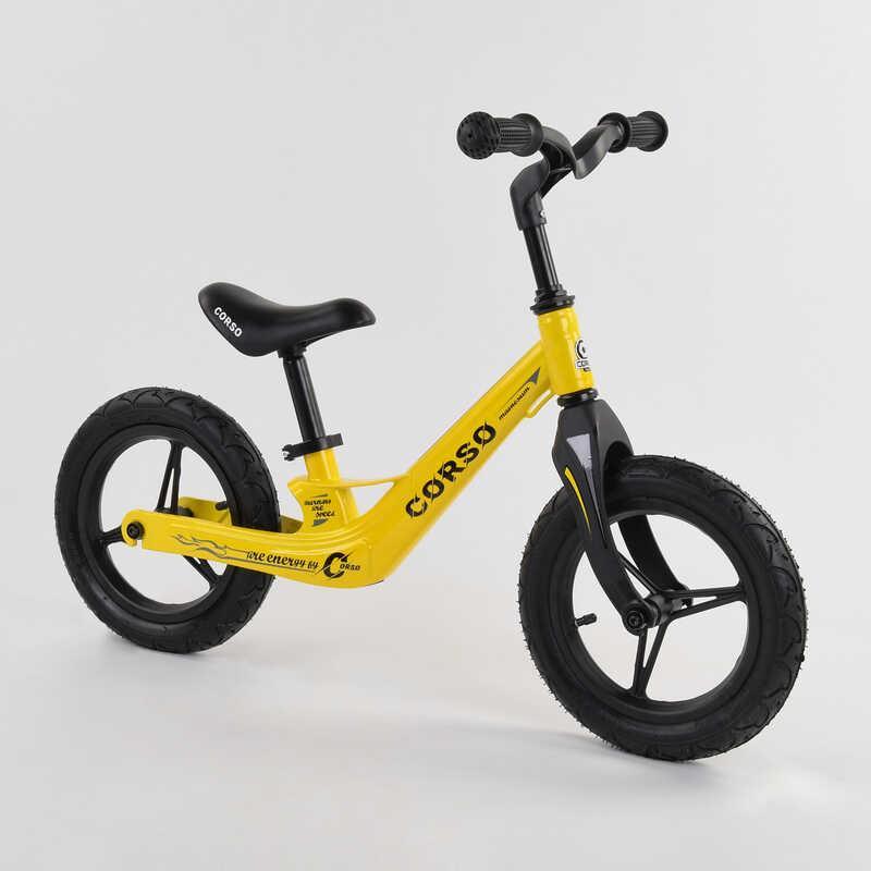 """Велобег Corso 25306 колеса 12"""" надувные, магниевая рама, магниевый руль, в коробке"""