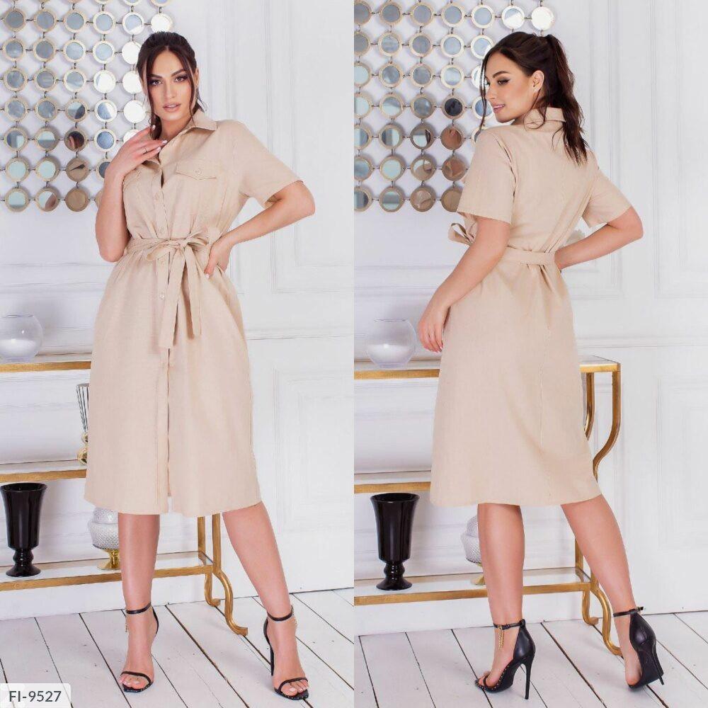 Пряме плаття сорочка р-ри 48-54 арт. 7064