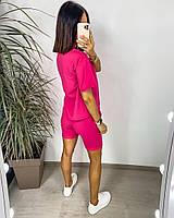 Яскравий жіночий неоновий спортивний костюм з шортами (Норма), фото 7