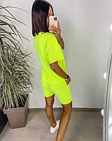 Яскравий жіночий неоновий спортивний костюм з шортами (Норма), фото 8