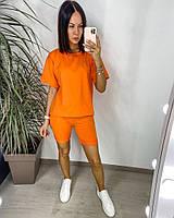 Яскравий жіночий неоновий спортивний костюм з шортами (Норма), фото 9