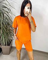 Яскравий жіночий неоновий спортивний костюм з шортами (Норма), фото 10