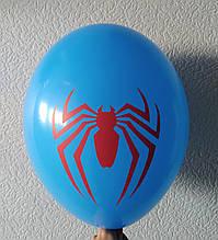 """Латексна кулька з малюнком Спайдермен синій 12"""" 30см Belbal ТМ """"Star"""""""
