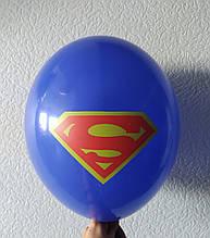 """Латексна кулька з малюнком супермен темно-синій 12"""" 30см Belbal ТМ """"Star"""""""