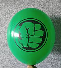 """Латексна кулька з малюнком Халк яскраво-зелений 12"""" 30см Belbal ТМ """"Star"""""""