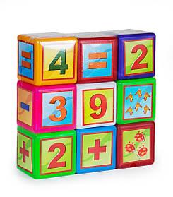 Кубики великі 9шт Математика видувні (24*8,5*24см) 020/3 Бамсик