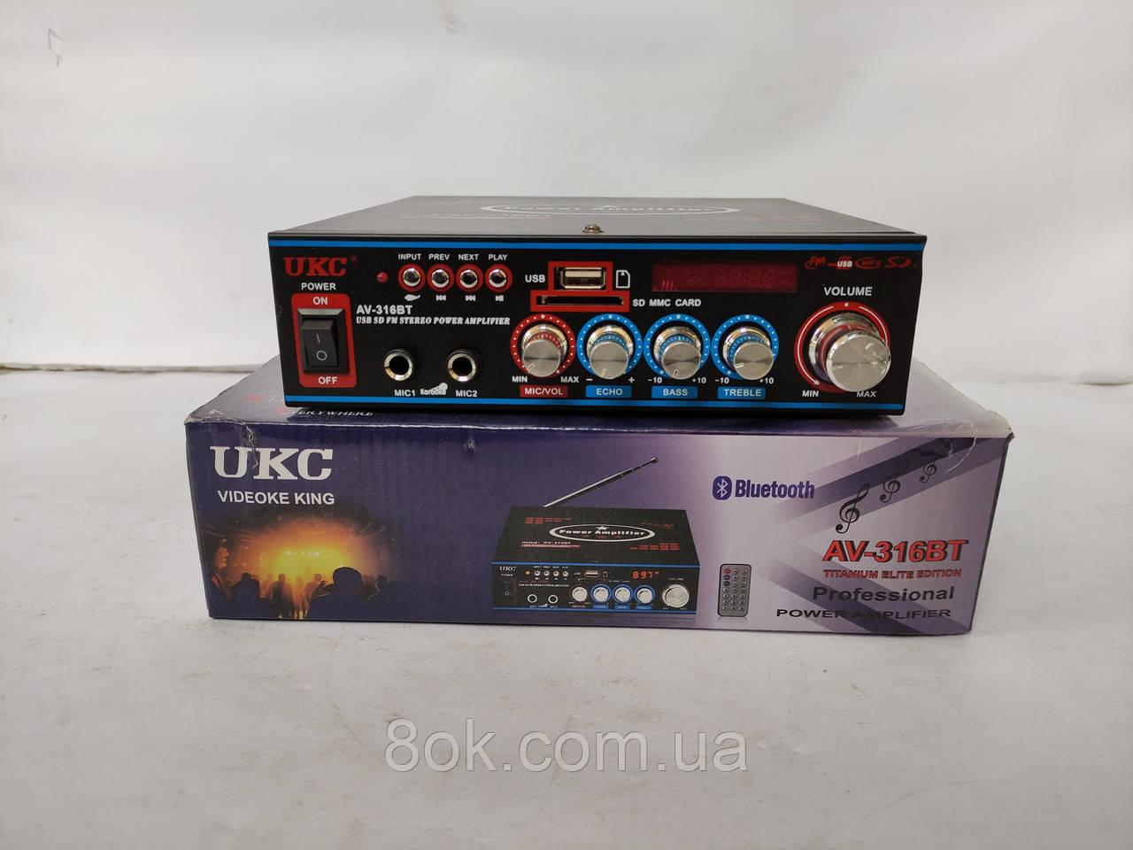 Підсилювач звуку UKC AV-316BT
