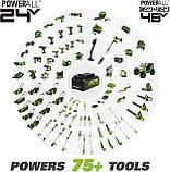 Безщіткова акумуляторна болгарка  (кутошліфувальна машина ) Greenworks GD24AG без АКБ і ЗП, фото 8