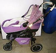 Б/У Коляска Sojan X3 (Соян Х3). Прогулянкова коляска 2 в 1 фіолетового кольору