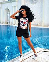 Жіноча стильна футболка з принтом, фото 1