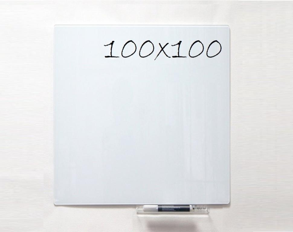 Дошка магнітно-маркерна скляні GL100100WT, 100x100*