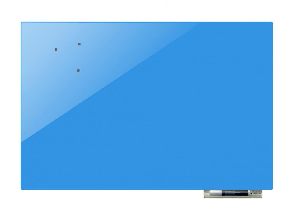 Дошка магнітно-маркерна скляні GL4560, 45x60 (Блакитний)