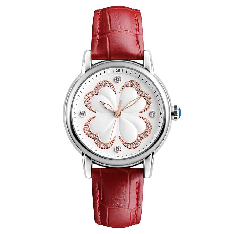 Skmei 9159 elegant красные женские классические часы