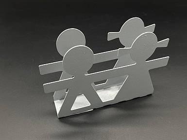 Підставка для серветок з металу. Колір сріблястий. 10х14см