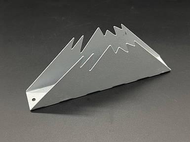 Підставка для серветок з металу. Колір сріблястий. 7х17см