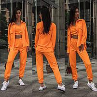 Яркий женский спортивный костюм-тройка в расцветках (Норма), фото 5
