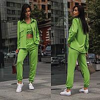Яркий женский спортивный костюм-тройка в расцветках (Норма), фото 7