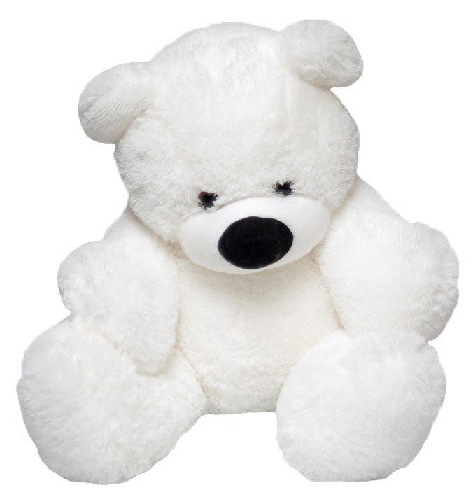 Мягкая игрушка мишка Алина Бублик 70 см белый Б№1,5-бел