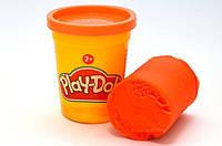 1 Баночка пластилина (в ассорт.) B6756 (Оранжевый)