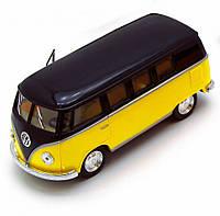 Автобус игрушечный Volkswagen T2 BUS  Kinsmart KT5376W инерционная (Желтый)
