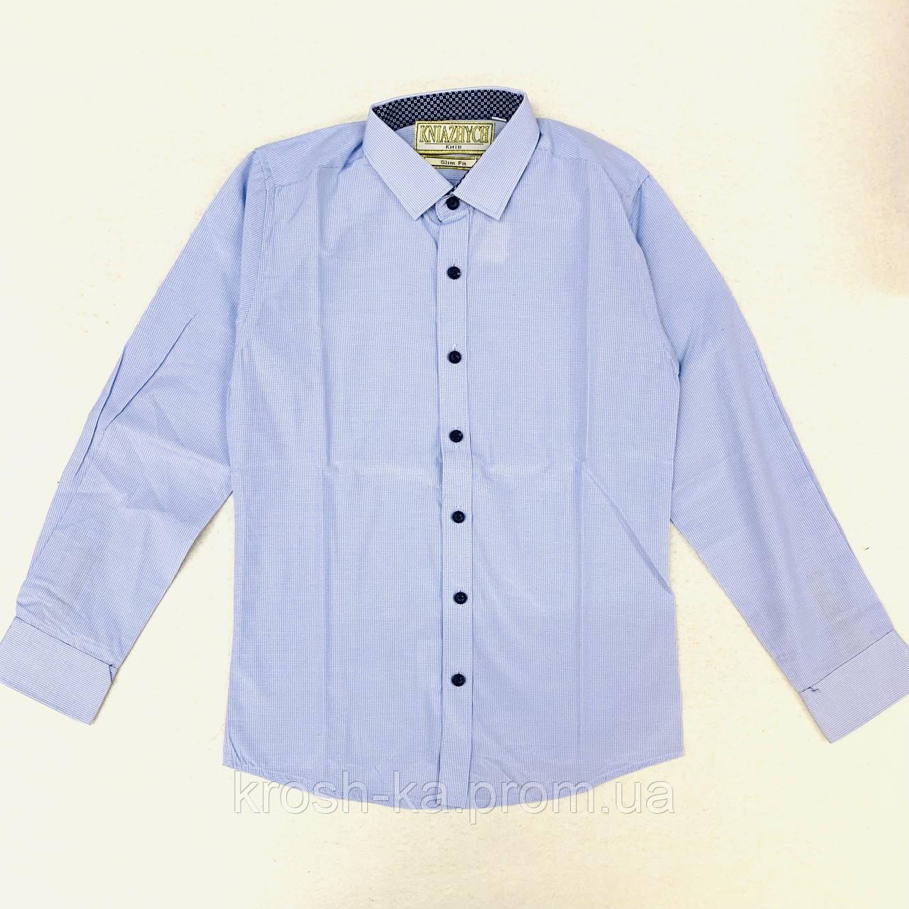 """Сорочка для хлопчика """"Княжичі"""" Україна блакитний-сірий Corse 22slim"""