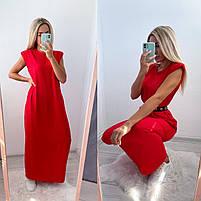 Літній жіночий сарафан вільний довжини максі в кольорах (Норма), фото 2