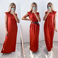 Літній жіночий сарафан вільний довжини максі в кольорах (Норма), фото 10