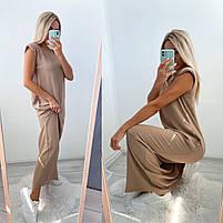 Літній жіночий сарафан вільний довжини максі в кольорах (Норма), фото 9