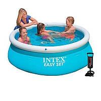Надувной бассейн Intex 28101 - 2, 183 х 51 см (тент, подстилка, насос)