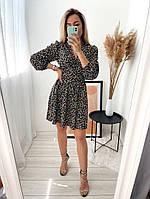 Женское стильное платье из софта в цветочный принт (Норма), фото 5