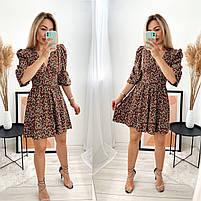 Женское стильное платье из софта в цветочный принт (Норма), фото 6