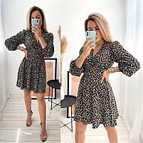 Женское стильное платье из софта в цветочный принт (Норма), фото 8