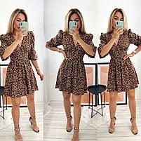 Женское стильное платье из софта в цветочный принт (Норма), фото 2