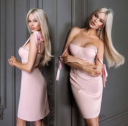 """Женское платье 7393 """"Корсет Завязки"""" в расцветках"""