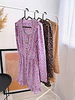 Женское нежное платье из софта в цветочный принт (Норма), фото 3