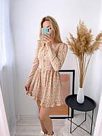 Женское нежное платье из софта в цветочный принт (Норма), фото 2