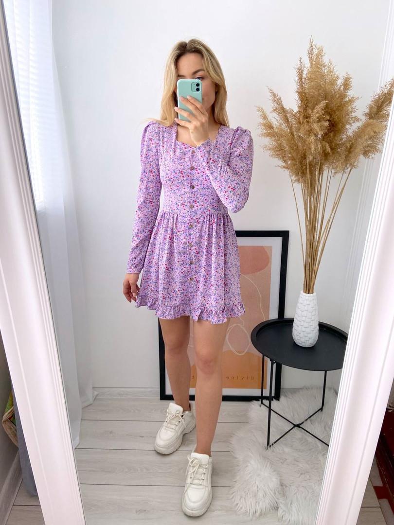 Женское нежное платье из софта в цветочный принт (Норма)