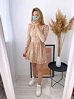 Жіноче ніжне плаття з софта в квітковий принт (Норма), фото 6