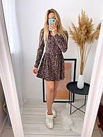 Жіноче ніжне плаття з софта в квітковий принт (Норма), фото 7